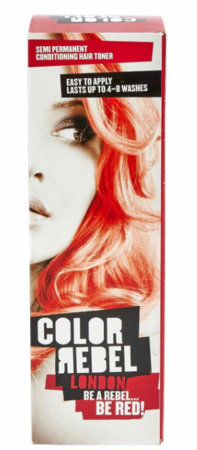 Color Rebel London Be A Rebel Be Red Semi Permanent Conditioning Hair Toner 3.38 oz 2019