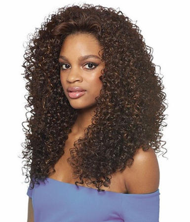 Outre Quick Weave Dominican Curly Half Wig Synthetic