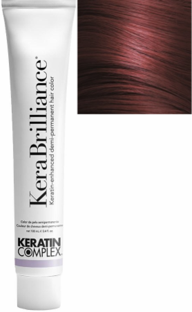 Keratin Complex KeraBrilliance Keratin-Enhanced Demi-Permanent Hair Color 4.6/4R Medium Auburn Brown 3.4 oz 2019