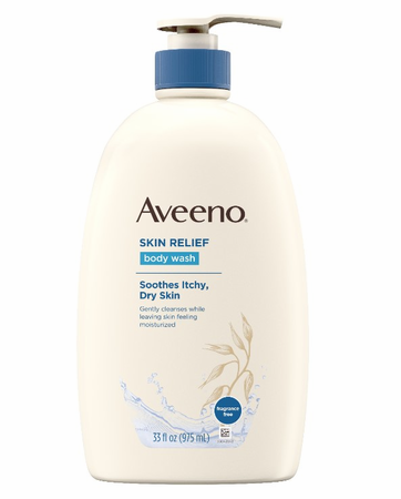 Aveeno Skin Relief Body Wash for Dry Skin Fragrance-Free 33 oz