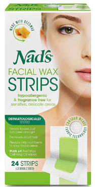 Nads Hair Removal Facial Wax Strips 24 Count 2019