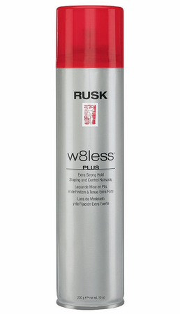 Rusk W8less Extra Strong Hold Shaping and Control 55 % Hair Spray 10 oz