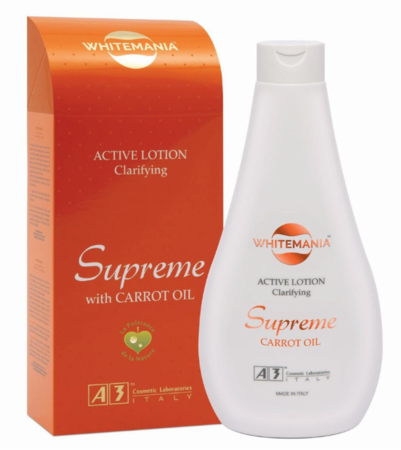 Whitemania Supreme Clarifying Active Lotion with Carrot Oil 13.52 oz