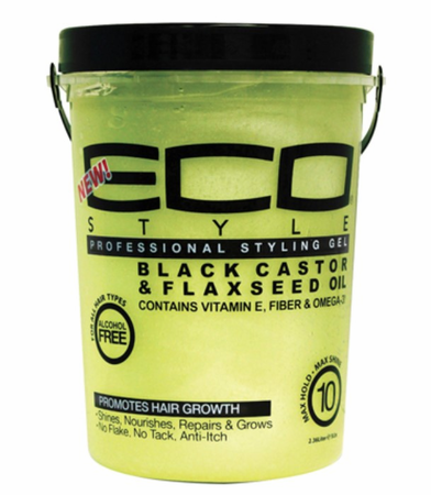 Eco Style Black Castor & Flaxseed Oil Styling Gel 80 oz