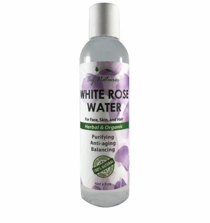 By Natures White Rose Water For Face Skin and Hair 6oz