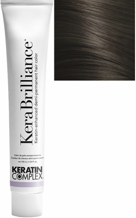 Keratin Complex KeraBrilliance Keratin-Enhanced Demi-Permanent Hair Color 4.01/4NA Medium Natural Ash Brown 3.4 oz 2019
