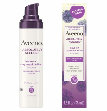 Aveeno Absolutely Ageless Leave-on Day Mask Lotion with SPF 30 Sunscreen 1.3 oz