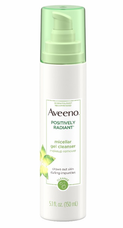 Aveeno Positively Radiant Micellar Gel Facial Cleanser 5.1 oz