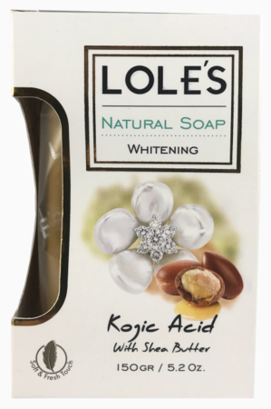 Lole's Whitening Kojic Acid With Shea Butter Soap 5.2 oz