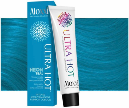 Aloxxi Ultra Hot Intense Semi-Permanent Fashion Hair Colour Neon Teal 4.4 oz