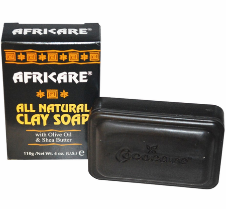 Africare All Natural Clay Soap with Olive Oil & Shea Butter 4 oz