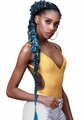 "Bobbi Boss Pre Feathered 3X Just Glam 65"" Braids Synthetic"