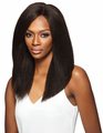 Outre Simply Brazilian Natural Blow Out Straight 4x4 Swiss Lace Front Wig Human Hair