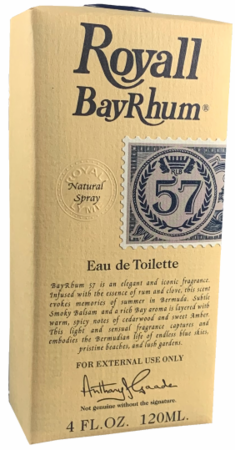 Royall Bay Rhum 57 for Men Fragrance Eau de Toilette Spray 4 oz 2019