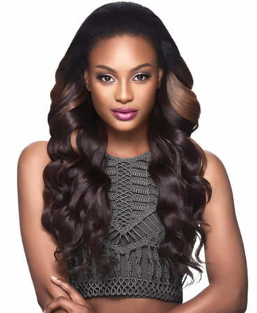 Outre Quick Weave Ava Half Wig Synthetic
