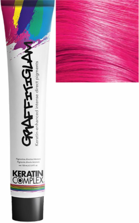 Keratin Complex GraffitiGlam Keratin-Enhanced Intense Direct Pigments Hair Color Pink Passion 3.4 oz 2019