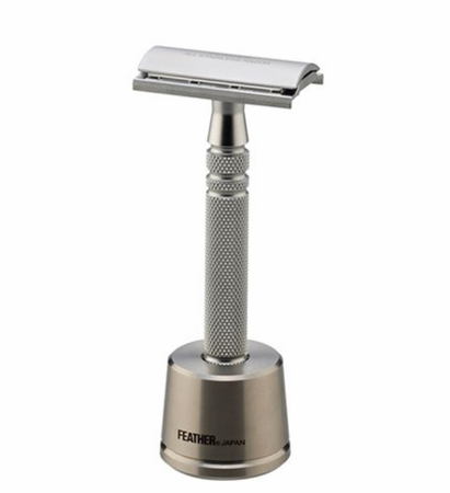 Feather Stainless Steel Double Edge Razor With Stand AS-D2S