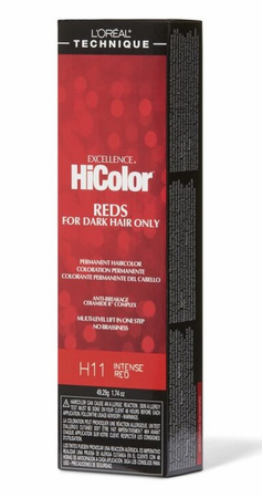 L'Oreal Excellence HiColor Reds For Dark Hair Only H11 Intense Red