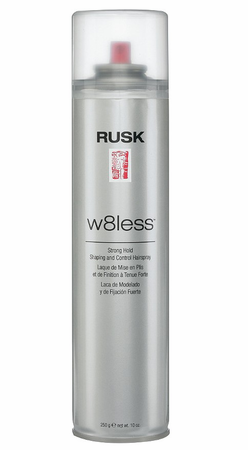 Rusk W8less Strong Hold Shaping & Control 55 % Hair Spray 10 oz