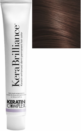 Keratin Complex KeraBrilliance Keratin-Enhanced Demi-Permanent Hair Color 7.35/7GRV Medium Golden Mahogany Blonde 3.4 oz 2019