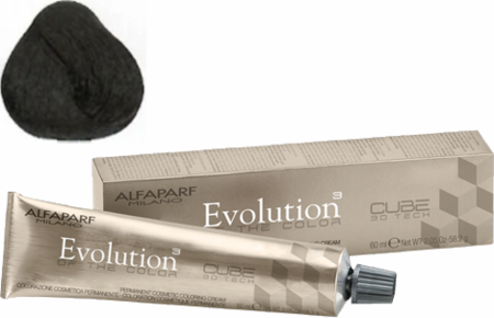 Alfaparf Milano Evolution of the Color Cube 3D Tech Hair Color 3 Dark Natural Brown 2 oz 2019