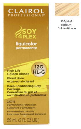 Clairol Professional Soy4Plex Permanent Haircolor 12G/HL-G High Lift Golden Blonde