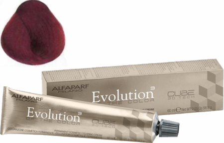 Alfaparf Milano Evolution of the Color Cube 3D Tech Hair Color 7.62 Medium Red Violet Blonde 2 oz 2019