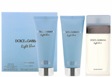 Light Blue by Dolce & Gabbana for Women 3 Piece Fragrance Gift Set Travel Edition 2019