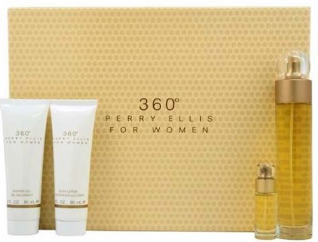 360 Perry Ellis by Perry Ellis for Women 4 Piece Fragrance Gift Set 2019