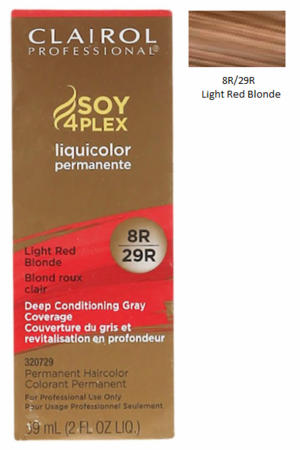 Clairol Professional Soy4Plex Permanent Haircolor 8R/29R Light Red Blonde