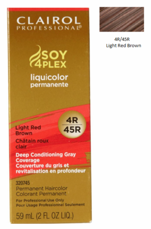 Clairol Professional Soy4Plex Permanent Haircolor 4R/45R Light Red Brown