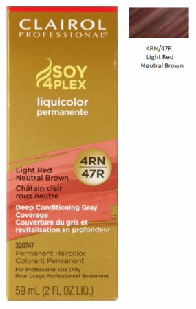 Clairol Professional Soy4Plex Permanent Haircolor 4RN/47R Light Red Neutral Brown