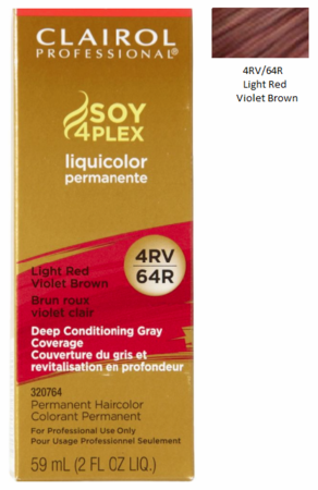 Clairol Professional Soy4Plex Permanent Haircolor 4RV/64R Light Red Violet Brown