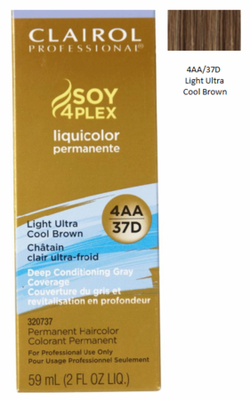 Clairol Professional Soy4Plex Permanent Haircolor 4AA/37D Light Ultra Cool Brown