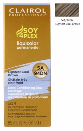 Clairol Professional Soy4Plex Permanent Haircolor 5A/94DN Lightest Cool Brown