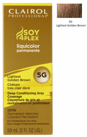 Clairol Professional Soy4Plex Permanent Haircolor 5G Lightest Golden Brown