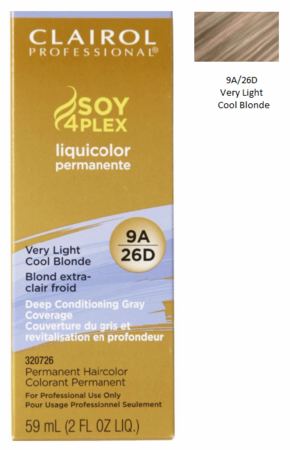 Clairol Professional Soy4Plex Permanent Haircolor 9A/26D Very Light Cool Blonde