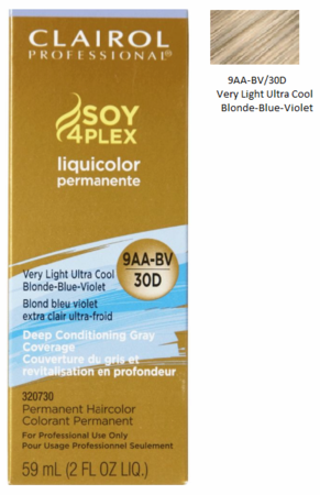 Clairol Professional Soy4Plex Permanent Haircolor 9AA-BV/30D Very Light Ultra Cool Blonde-Blue-Violet