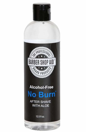 Barber Shop Aid No Burn Alcohol-Free Aftershave with Aloe 13 oz
