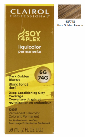 Clairol Professional Soy4Plex Permanent Haircolor 6G/74G Dark Golden Blonde