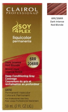 Clairol Professional Soy4Plex Permanent Haircolor 6RR/206RR Dark Intense Red Blonde