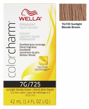 Wella Color Charm Permanent Liquid Haircolor 7G/725 Sunlight Blonde Brown 1.4 oz
