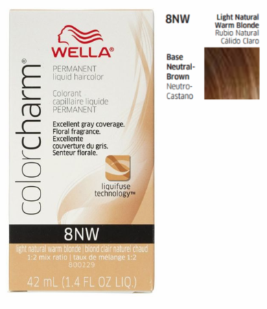 Wella Color Charm Permanent Liquid Haircolor 8NW Light Natural Warm Blonde 1.4 oz