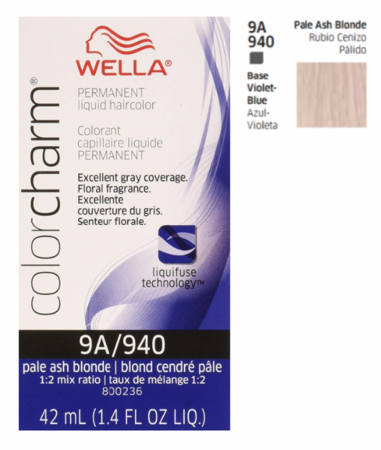 Wella Color Charm Permanent Liquid Haircolor 9A/940 Pale Ash Blonde 1.4 oz