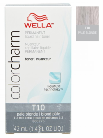Wella Color Charm Permanent Liquid Toner T10 Pale Blonde 1.4 oz