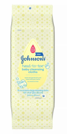 Johnson's Baby Head-to-Toe Cleansing Cloths 15 Count