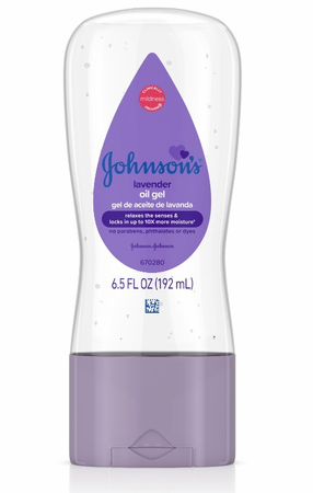 Johnson's Baby Oil Gel to Moisturize Skin with Lavender 6.5 oz