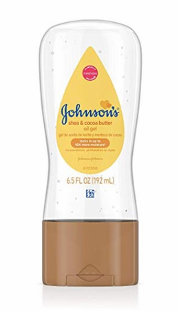 Johnson's Baby Oil Gel to Moisturize Skin with Shea and Cocoa Butter 6.5 oz