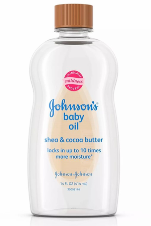 Johnson's Baby Oil Gel to Moisturize Skin with Shea and Cocoa Butter 14 oz