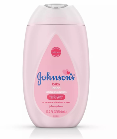 Johnson's Moisturizing Pink Baby Lotion with Coconut Oil 10.2 oz